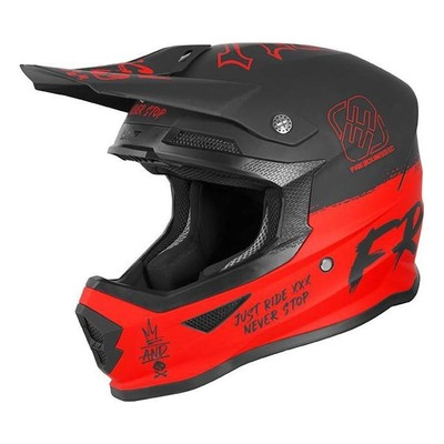 Casque cross enfant Freegun Speed mat rouge