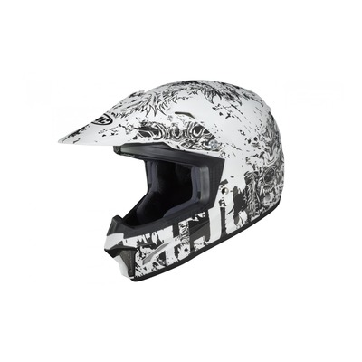 Casque cross enfant HJC CL-XY II Creeper MC10SF noir/blanc