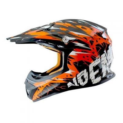 Casque Cross enfant Noend Cracked orange