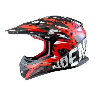 Casque Cross enfant Noend Cracked rouge
