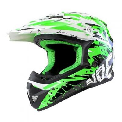 Casque Cross enfant Noend Cracked vert