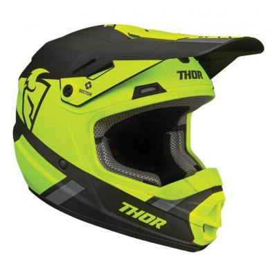 Casque cross enfant Thor Sector Split acid/noir mat