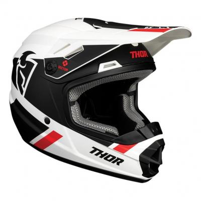 Casque cross enfant Thor Sector Split blanc/noir mat