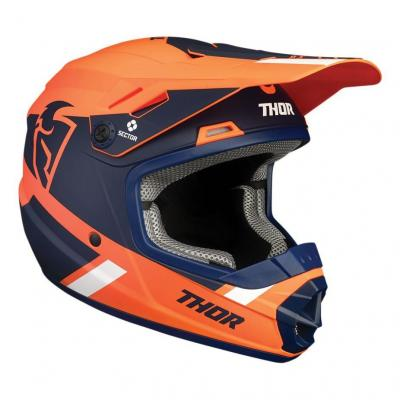Casque cross enfant Thor Sector Split orange/navy mat