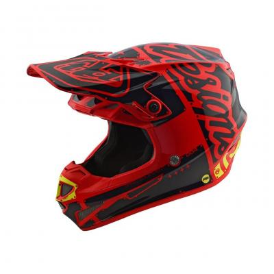 Casque cross enfant Troy Lee Designs SE4 Polyacrylite Factory rouge