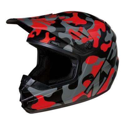 Casque cross enfant Z1R Rise Camo-Red rouge/camouflage