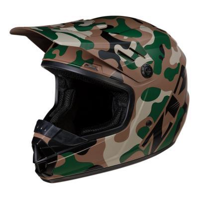 Casque cross enfant Z1R Rise Camo-Woodland vert/camouflage