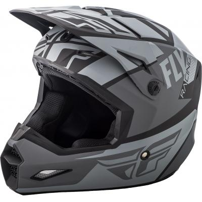 Casque cross Fly Racing Elite Guild gris/noir