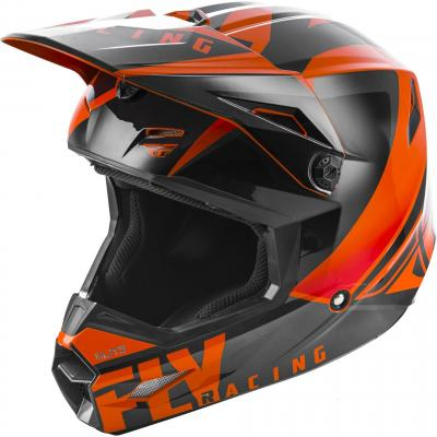 Casque cross Fly Racing Elite Vigilant orange/noir