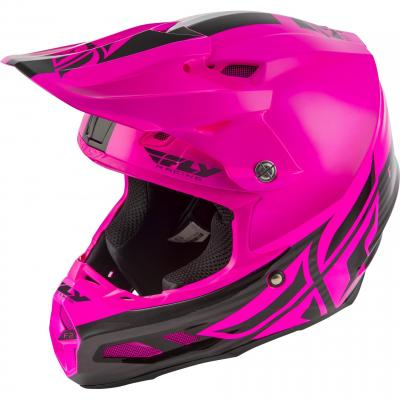 Casque cross Fly Racing F2 MIPS Shield noir/rose