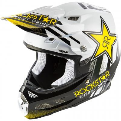Casque cross Fly Racing F2 Rockstar noir/blanc