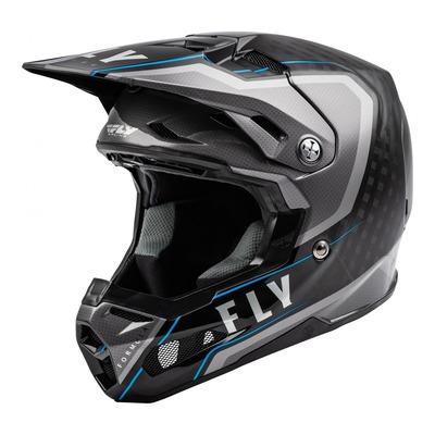 Casque cross Fly Racing Formula Carbone Axon noir/gris/bleu