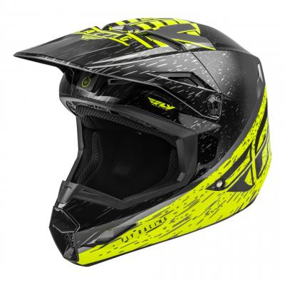 Casque cross Fly Racing Kinetic K120 jaune fluo/gris/noir