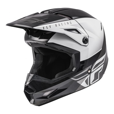 Casque cross Fly Racing Kinetic Straight Edge noir/blanc