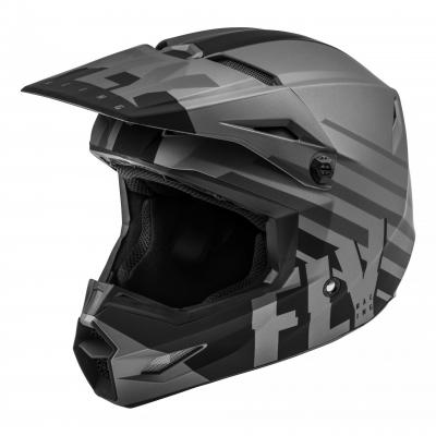 Casque cross Fly Racing Kinetic Thrive gris foncé/noir mat