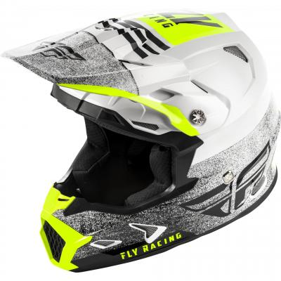 Casque cross Fly Racing Toxin Mips Embargo blanc/noir