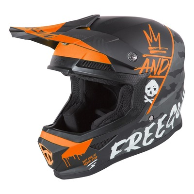 Casque cross Freegun XP-4 Camo mat orange