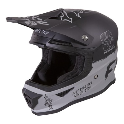 Casque cross Freegun XP-4 Speed mat gris
