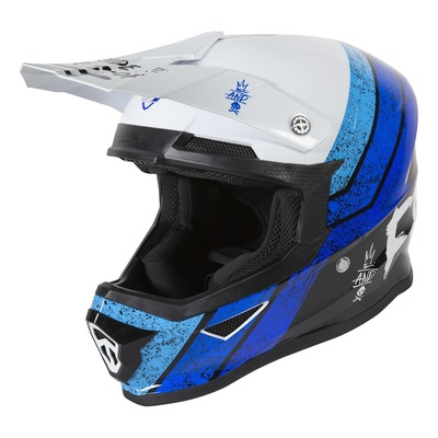 Casque cross Freegun XP-4 Stripe brillant bleu