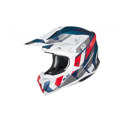 Casque cross HJC I50 Vanish MC21SF gris/bleu/rouge/blanc