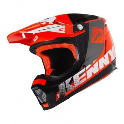 Casque cross Kenny Performance orange fluo