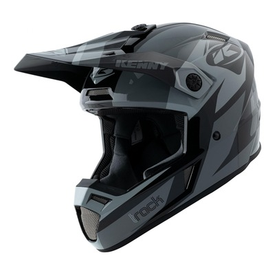 Casque cross Kenny Track Graphic noir/gris