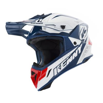 Casque cross Kenny Trophy blanc/rouge/navy