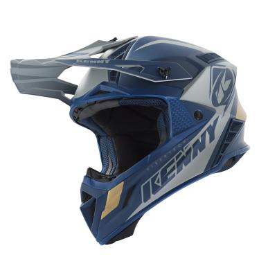 Casque cross Kenny Trophy navy/gold