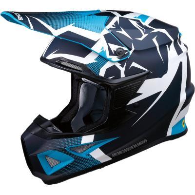 Casque cross Moose Racing FI Agroid MIPS bleu/bleu marine