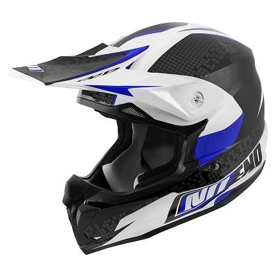 Casque cross Noend Defcon By OCD TX696 blanc/bleu