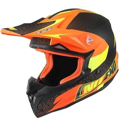 Casque cross Noend Defcon By OCD TX696 orange mat