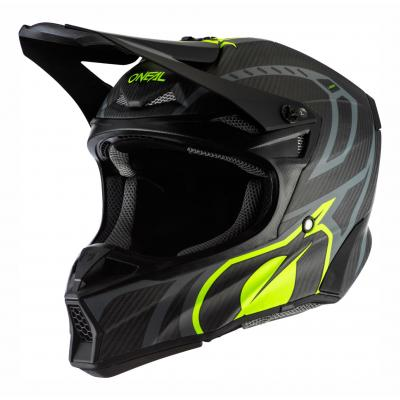 Casque cross O'Neal 10SRS Carbon Race noir/jaune fluo