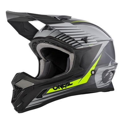 Casque cross O'Neal 1SRS Stream gris/jaune fluo