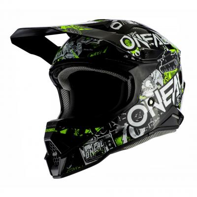 Casque cross O'Neal 3SRS Attack 2.0 noir/jaune fluo