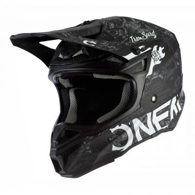 Casque cross O'Neal 5SRS HR Polyacrylite noir/blanc
