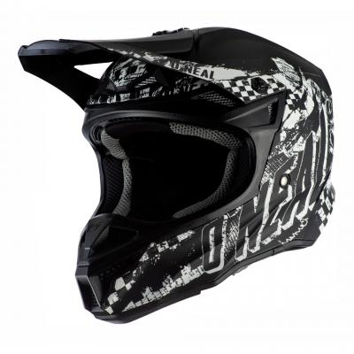 Casque cross O'Neal 5SRS Rider Polyacrylite noir/blanc