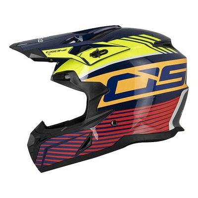 Casque cross Osone S820 bleu/jaune/orange/rouge