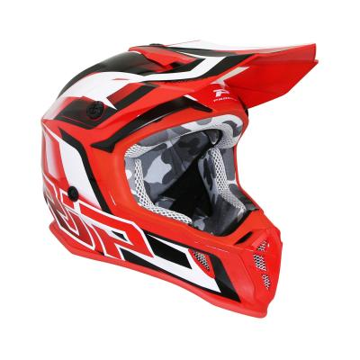 Casque cross Progrip 3180 rouge / blanc