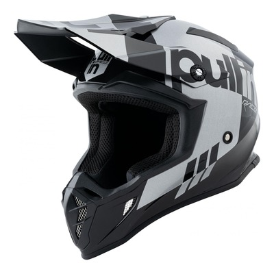 Casque cross Pull-in Race noir/argent
