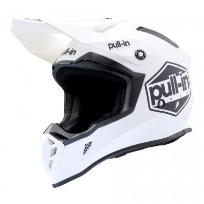 Casque cross Pull-in Solid blanc