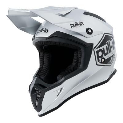 Casque cross Pull-in Solid gris/argent