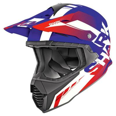 Casque cross Shark VARIAL ANGER bleu/blanc/rouge