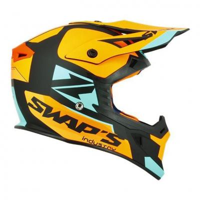Casque cross Swaps S818 Blur orange/noir/bleu