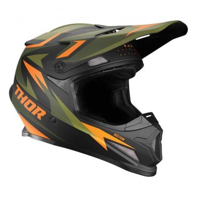 Casque cross Thor Reflex Sector Warship vert/orange mat