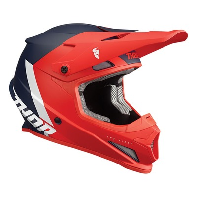 Casque cross Thor Sector Chev rouge/navy mat
