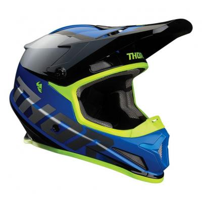 Casque cross Thor Sector Fader bleu/blanc brillant