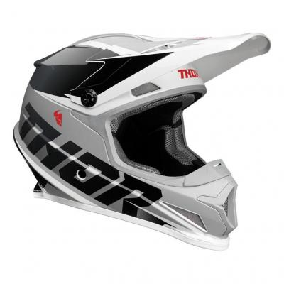Casque cross Thor Sector Fader noir/blanc brillant