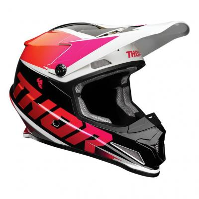 Casque cross Thor Sector Fader orange/magenta brillant