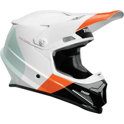 Casque cross Thor Sector Mips blanc/orange/rouge