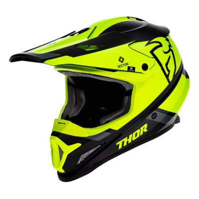 Casque cross Thor Sector Split Mips noir/acide